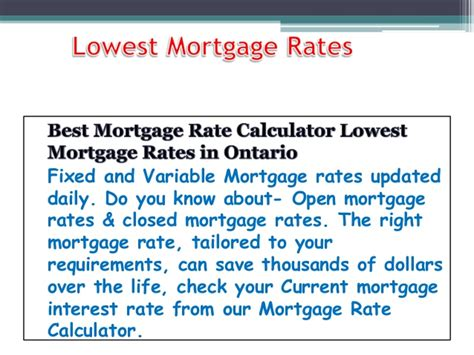 Best Mortgage Rate Calculator Lowest Mortgage Rates In Ontario. Doctor Of Physical Therapy Schools. Medicare Supplemental Insurance Ohio. Electric Water Heater Problem. Roof Repair San Francisco Laser Lipo Chicago. Solar Power Advantages Scheduled Task Manager. Wisconsin Dept Of Revenue At&t Internet Reno. Best Tv And Internet Deal E Mail List Broker. Bankruptcy Insolvency Act Car Loans Interest