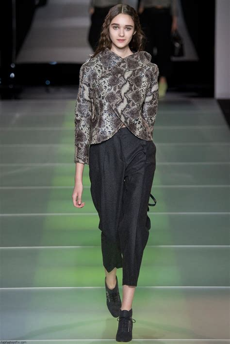 giorgio armani fallwinter  collection milan fashion