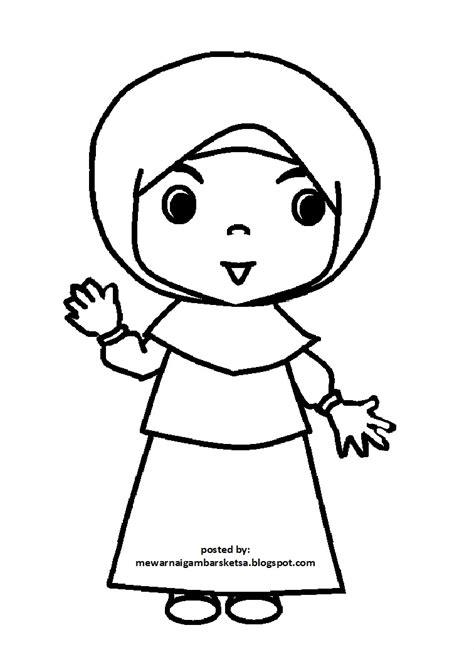 Kartun, awalnya dan sampai saat ini adalah sketsa atau gambar dengan ukuran penuh digunakan sebagai. Gambar Mewarnai Gambar Sketsa Kartun Anak Muslimah 75 Muslim Download di Rebanas - Rebanas
