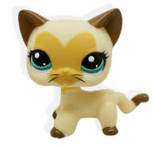 lps shorthair cats for littlest pet shop brown hair cat