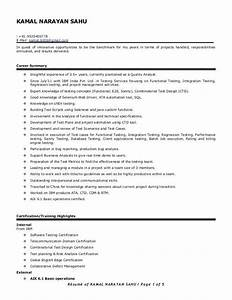 Manual Testing Resume Sample For 2 Years Experience