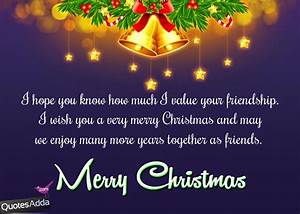 English Merry Christmas Greetings for Best Friends ...