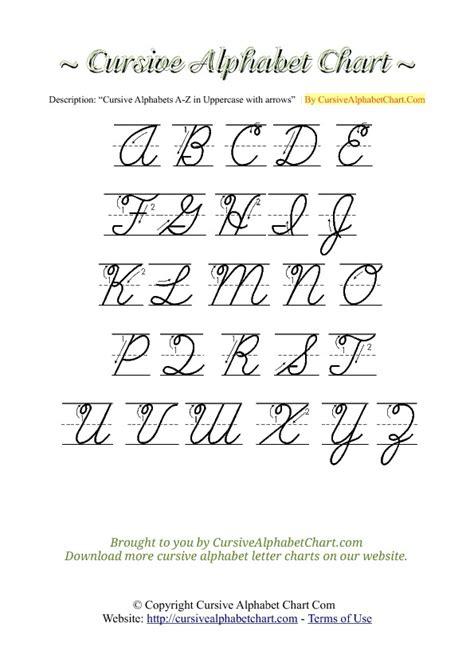 cursive uppercase letters unіquе cursive letters az 2 worksheet cursive alphabet 21268 | cursivealphabetchart uppercase arrows