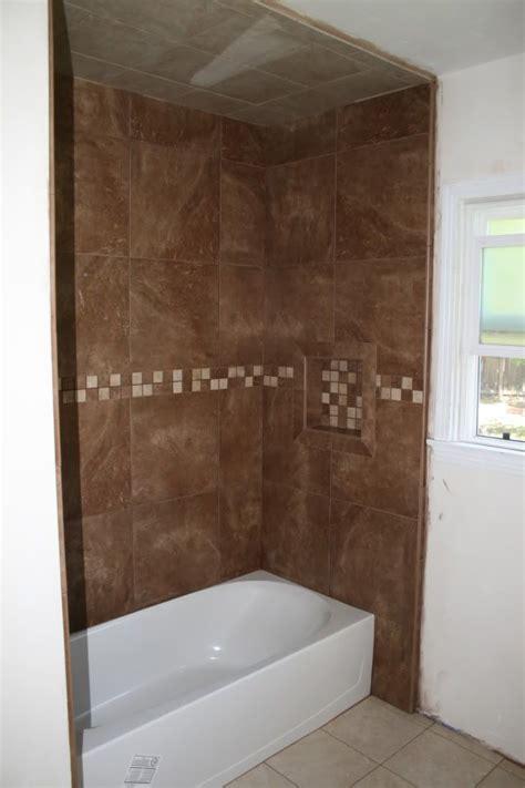 mesa rust tile   shower  kids bathroom bathroom