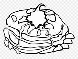 Pancake Clipartkey Pngitem sketch template