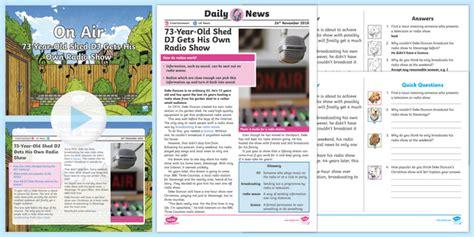 * New * Uks2 Shed Dj Daily News Resource Pack  Music, Radio
