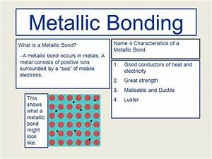 Examples For Metallic Bonds