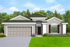 One-story, House, Plan, With, Stucco, Exterior, -, 82257ka
