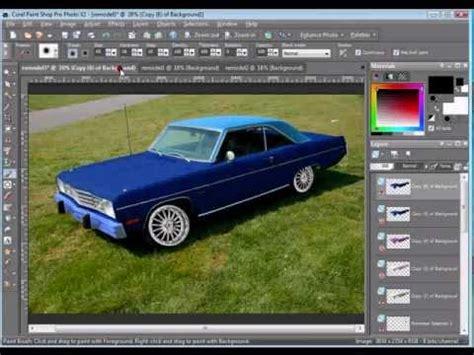 paint shop pro replace one color another paint shop pro tutorial change a cars color by