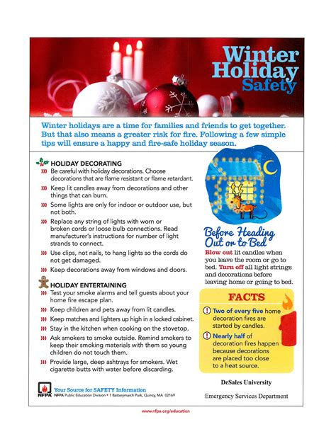 christmas safety tips   emergency services department