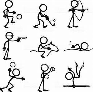 Stick Figure People Sports Stock Illustration