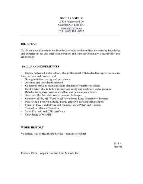 Personal Support Worker Resume Skills resume psw
