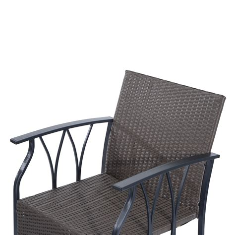 outsunny 4 outdoor rattan wicker furniture set
