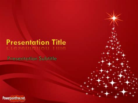 christmas tree powerpoint template professional