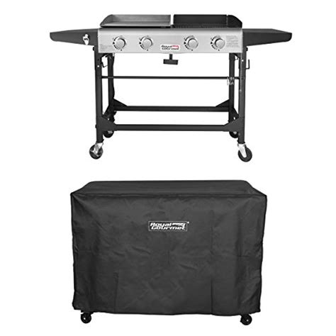 gas griddle grill royal gourmet propane gas grill and griddle combo 4 burner 1198