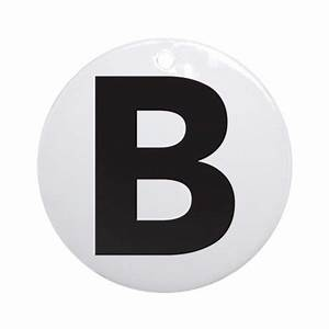letter b black ornament round by lettersandnames With black letter ornaments