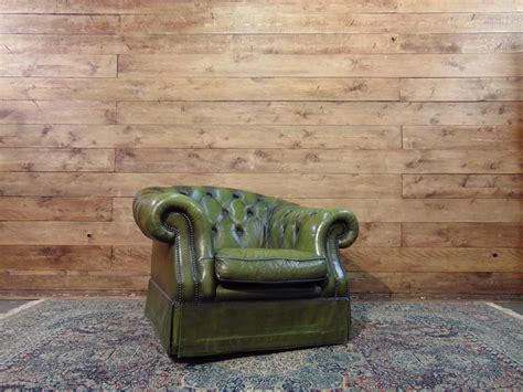 Poltrona Chesterfield Club Originale Inglese Vintage In