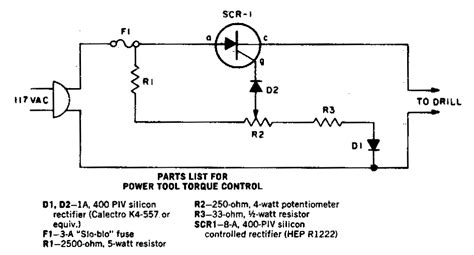 Ac Motor Schematic by Power Tool Torque Control Circuit Diagram World