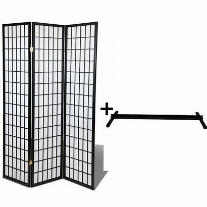 Divider Stand Screen Oriental Privacy Shoji Hardwood