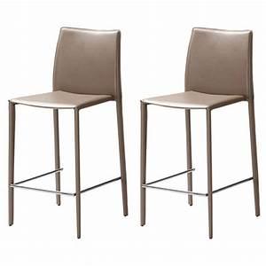 Chaise De Bar : chaises de bar en cuir recycl sable absolument design ~ Farleysfitness.com Idées de Décoration