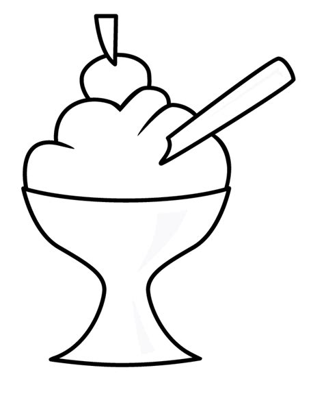 Helado Kleurplaat by Coloring Pages With Cherry On Top Coloring