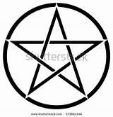 Pentagram Coloring Pentacle Wiccan Getdrawings Clipart sketch template