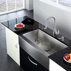 stainless apron sink to a deep bowl the homy design With apron sink sizes