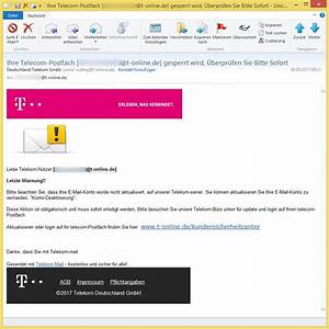 Telekom Deutschland Gmbh Rechnung Online : ihre telecom postfach empf nger t gesperrt wird berpr fen sie bitte sofort ~ Themetempest.com Abrechnung