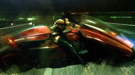 Cyberpunk, Futuristic, Anime Boy, Motorcycle Wallpaper