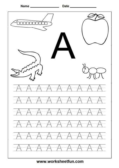 letter worksheets for kindergarten printable letters