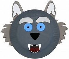 HD wallpapers wolf mask template paper plate ...