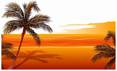 Sunset Clip Drawing Silhouette Transparent Clipart Orange