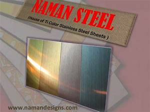 stainless steel sheets in metal colors like gold brass With colored tin sheets
