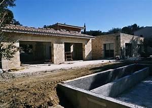 Construction d une magnifique maison en pierre dans le Gard Laurent & Fils