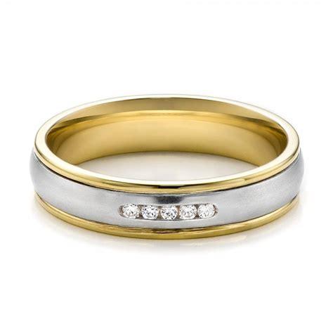womens  tone gold  diamond wedding band