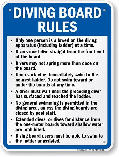 Diving Board Texas Rules Pool Signs Swimming