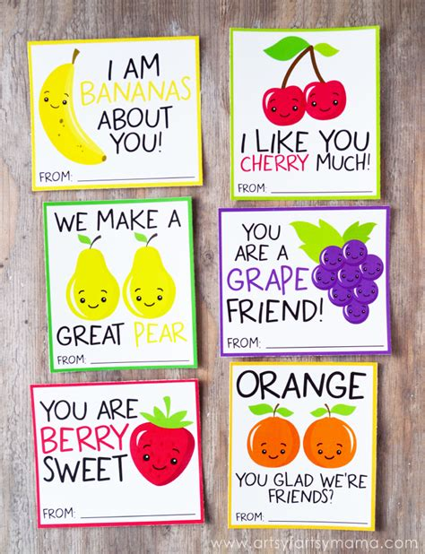 Free Printable Fruit Valentines | artsy-fartsy mama