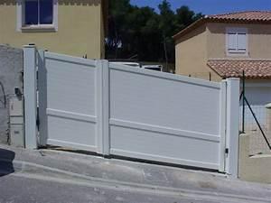 Portail Coulissant En Pente : portail battants en aluminium motoris respectant la ~ Premium-room.com Idées de Décoration