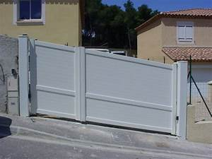 Portail En Aluminium : portail battants en aluminium motoris respectant la ~ Melissatoandfro.com Idées de Décoration