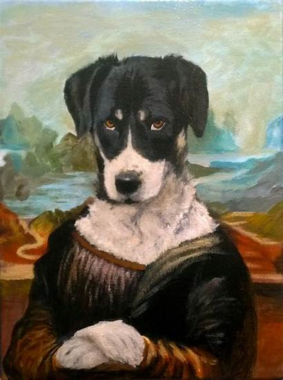 Mona Lisa Dog Portrait Acrylic Canvas Portfolio