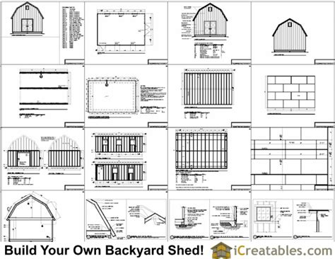 Shed Plans 16x20 Free by 16x24 Gambrel Shed Plans 12x16 Barn Shed Plans