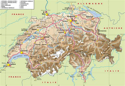 Carte Suisse by Www Mappi Net Maps Of Countries Switzerland Page 1