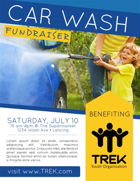 Pick from 820+ free templates, perfect for printing and sharing online. Car Wash Fundraiser Flyer Template | MyCreativeShop