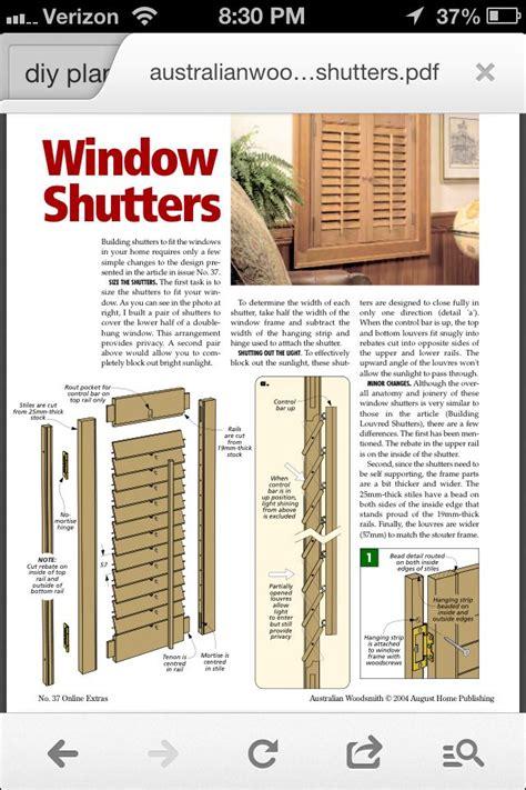build   build plantation shutters plans
