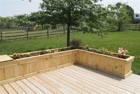 build in deck planters around patio with mosquito