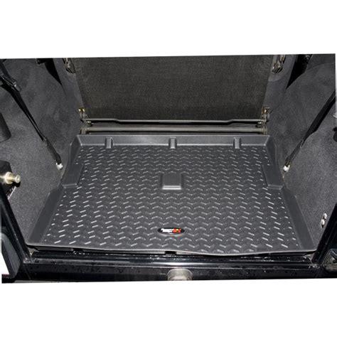 rugged ridge 1 cargo floor liner mat black 12975 11