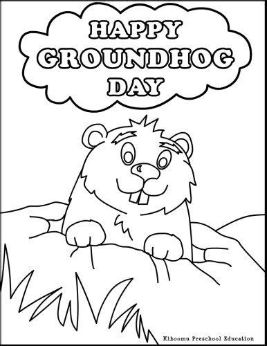 groundhog day coloring pages happy groundhog day coloring page for winter in