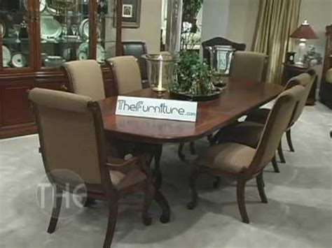 dining room set with double pedestal table bob mackie