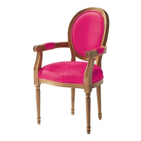 chaise louis maison du monde fauteuil cabriolet en coton fuchsia louis maisons du monde