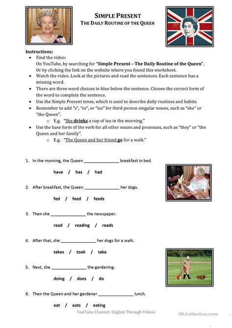 simple present for daily routines the daily routine of
